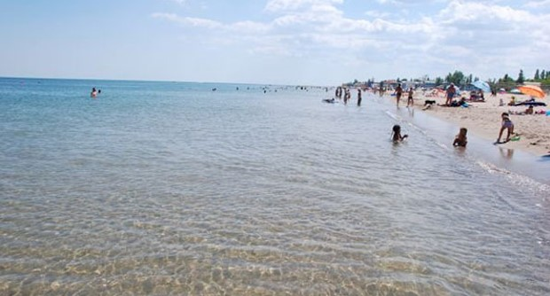 Море в Затоке, побережье